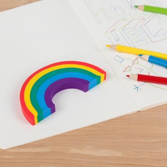 Large rainbow eraser