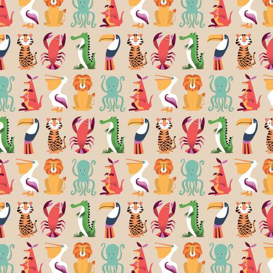 Animal Print Wrapping Paper