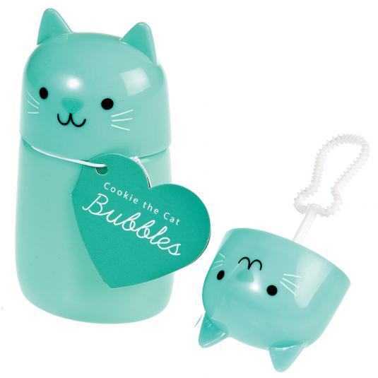 Cat shaped bubble blower