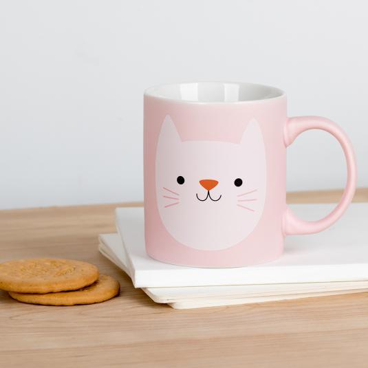 Cookie the Cat ceramic mug in a presentation box