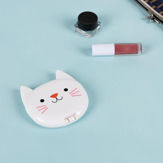 Cookie the Cat dual magnification pocket mirror