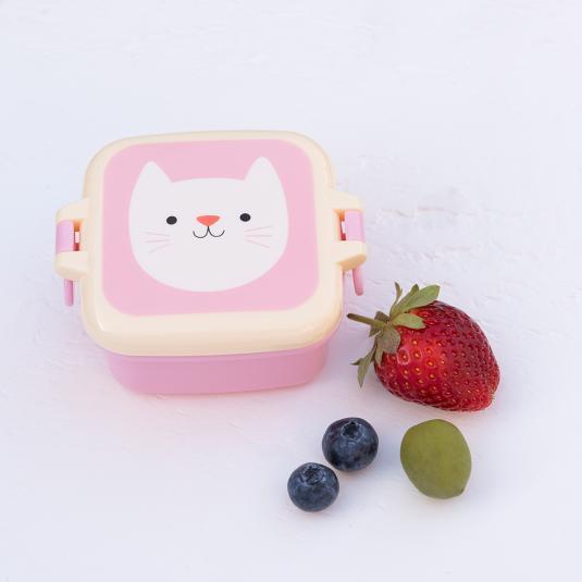 Kids Pink Snack Pot cat print