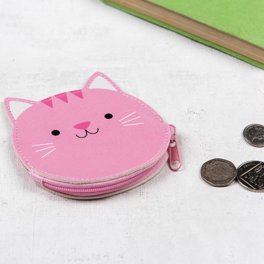 pink cat purse