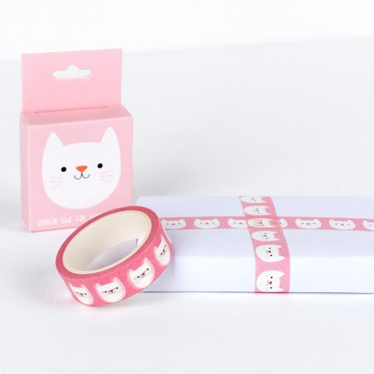 Cookie The Cat pink Washi Tape