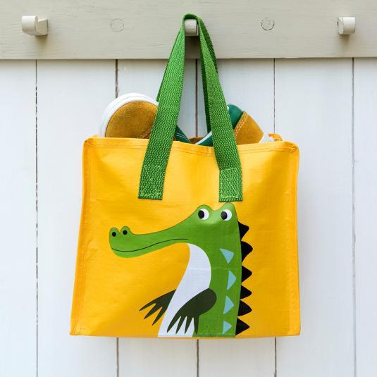 animal print yellow Charlotte Bag - Crocodile