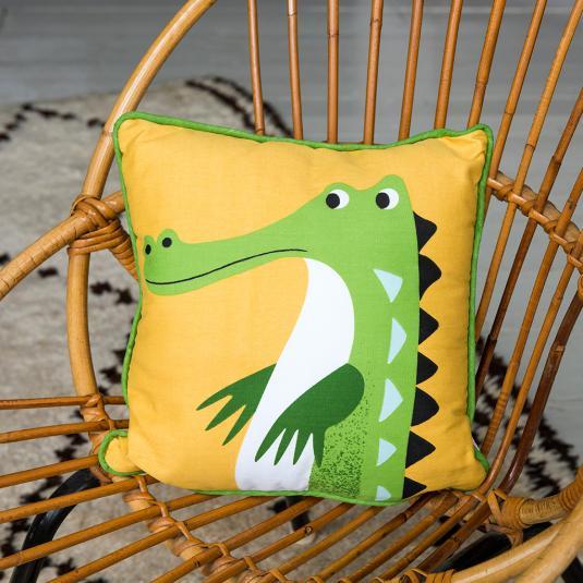 Crocodile Cushion with Pad