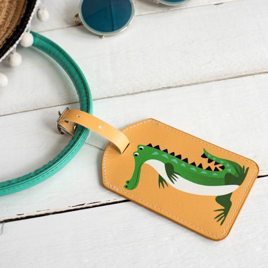 Colourful Creature Crocodile Luggage Tag