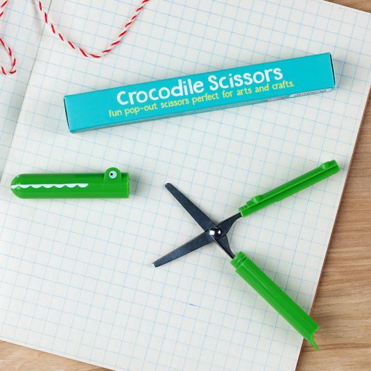 Children's Green Crocodile Scissors