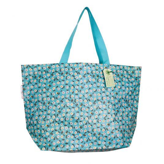 Reusable shopping and beach bag - Daisy design