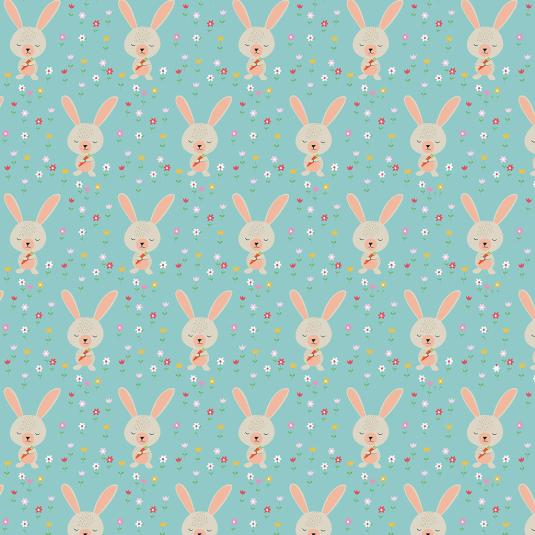Blue Bunny Gift Wrap