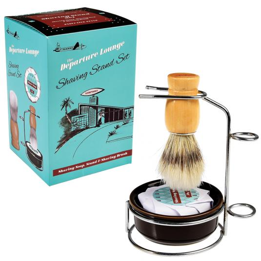 Departure Lounge Shaving Brush and Soap with stand Kit