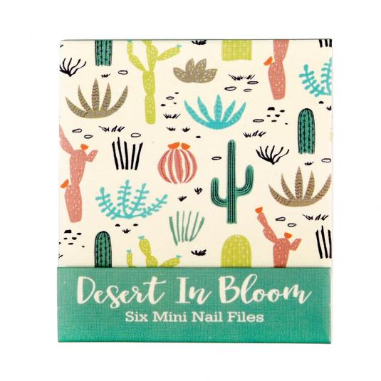 Desert In Bloom Cactus Print Mini Nail Files