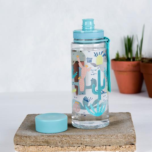 Desert In Bloom cactus printed Water Bottle