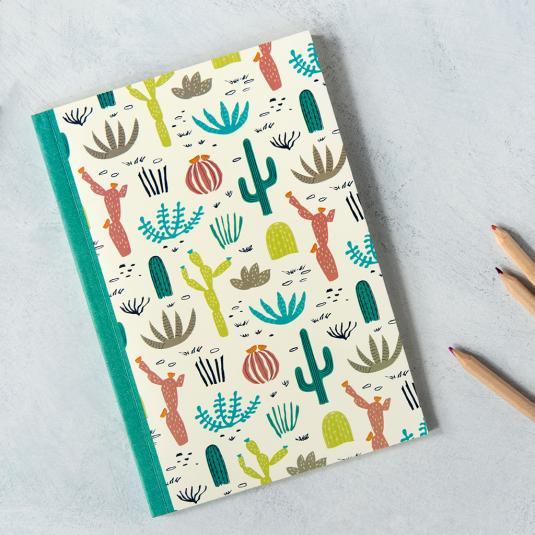 A5 Cactus- Desert In Bloom Design Notebook