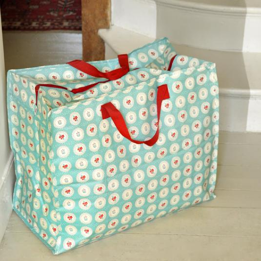 Vintage Doily Jumbo Storage Bag