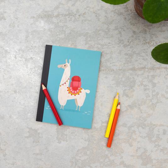 FSC certified llama print notebook