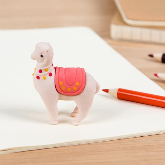 Cute llama eraser in a presentation box