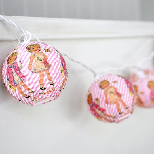 Dress Up Dolly Party Lights With British Standard 3 Pin Plug