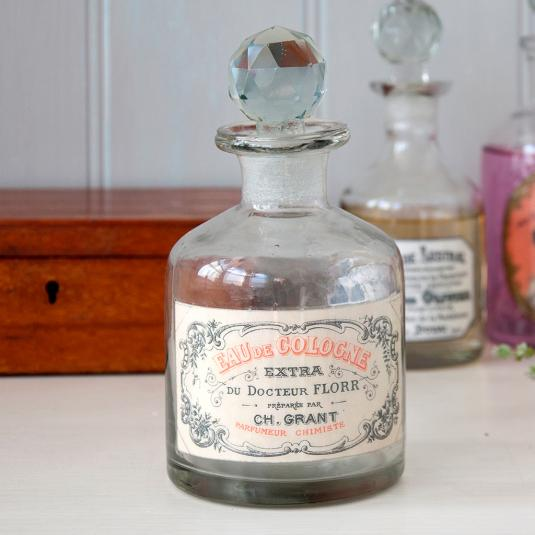 Eau De Cologne Glass Perfume Bottle