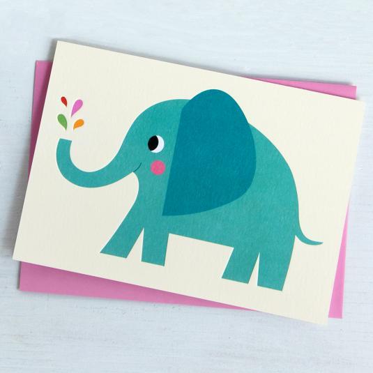 Elvis The Elephant Greeting Card