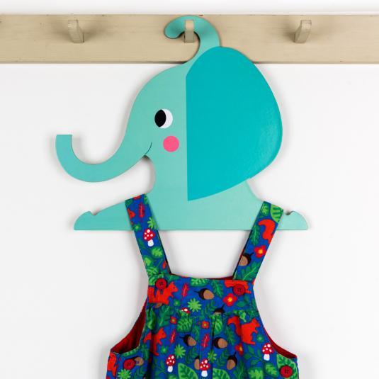 Elephant children's clothes hanger