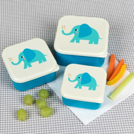 Elvis the Elephant nesting snack boxes