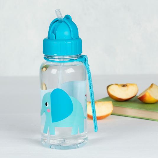 Elvis The Elephant Blue Kids Water Bottle