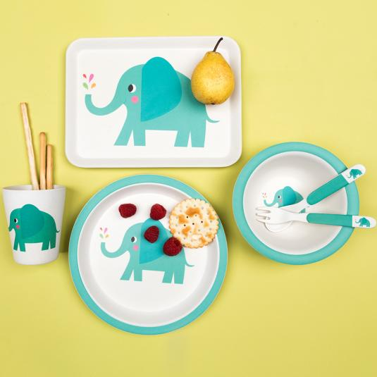 Elvis The Elephant Bamboo Tableware