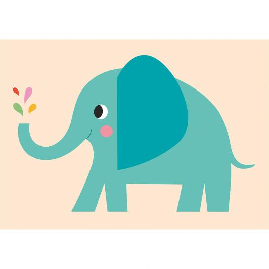 Elvis The Elephant Greetings Card