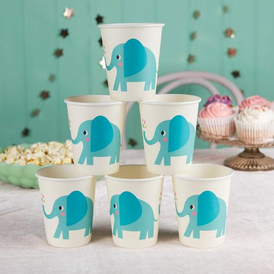 Elvis the Elephant Paper Cups