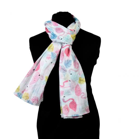 Flamingo Bay cotton scarf