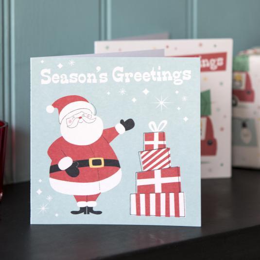 Festive Family Santa Christmas Card