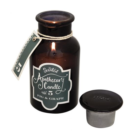 Fig And Grape Apothecary jar Candle