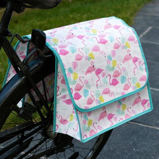 Flamingo Bay Bicycle basket bag