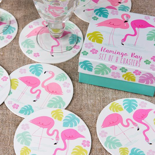 Flamingo Bay Coaster Set