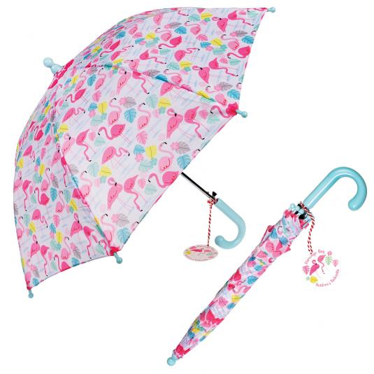 Flamingo Bay Pink Kids Umbrella