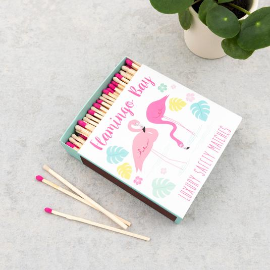 Flamingo Bay Square Safety Matches
