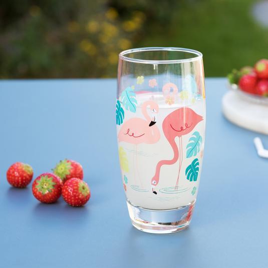 Flamingo Bay Drinking Glass