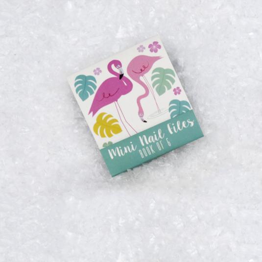 Pink Flamingo Bay Mini Nail Files