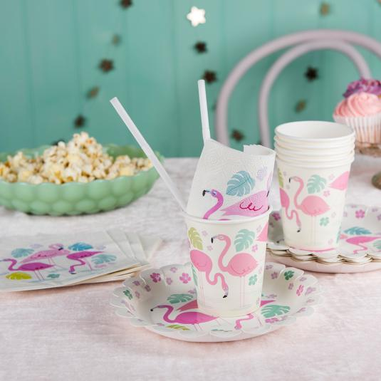 Flamingo Bay pink Party Tableware