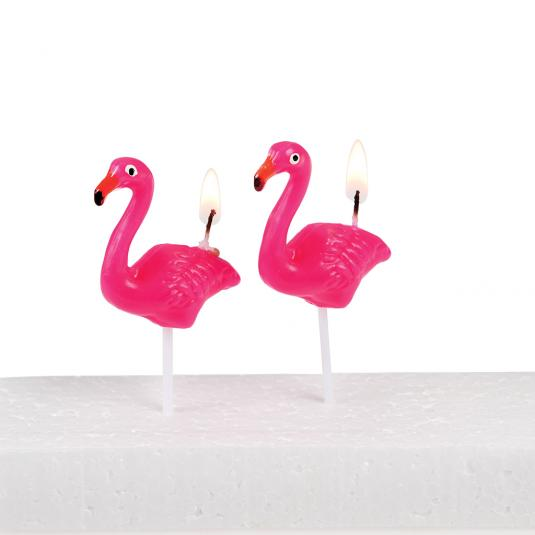 Flamingo Party Candles (pack Of 5)
