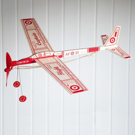 Flight Captain Rubber Band Aeroplane