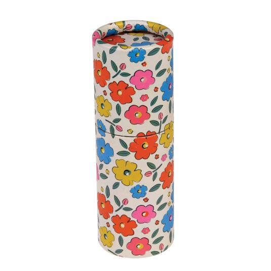 Tube of pencils in a floral design (set of 12)