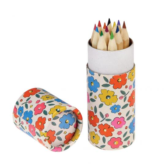 Floral Colouring Pencils (set of 12)