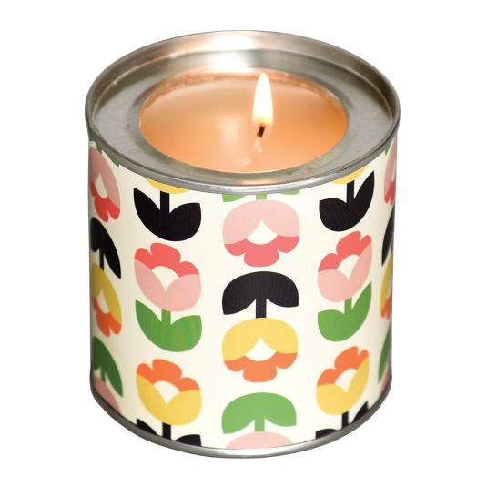 Flower Scented Candle in a Tulip Bloom Tin