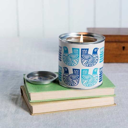 Folk Birds Scented Candle