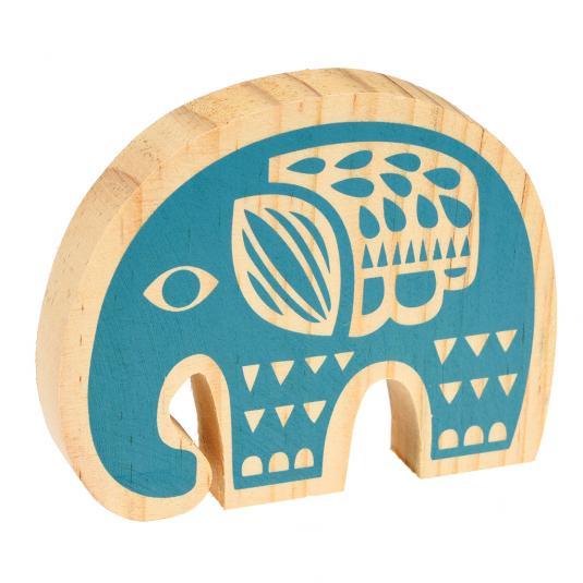 Folkart Wooden Elephant