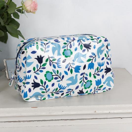 Folk Doves Wash Bag