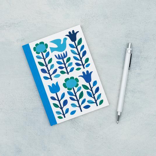 Folk Doves lined notebook