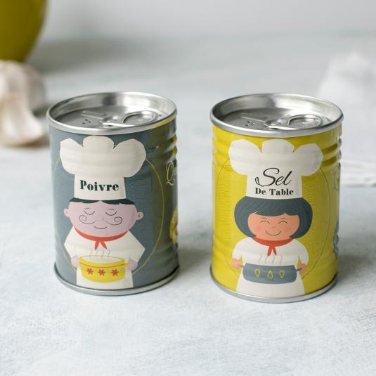 French Chef's Salt And Pepper Set